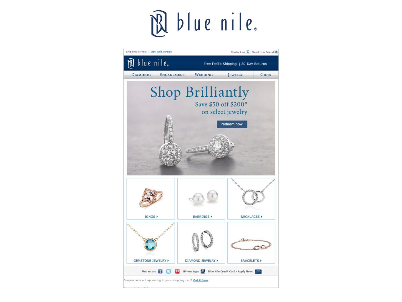 blue nile credit card login